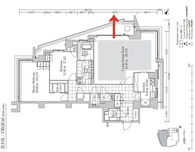 130-Gタイプ 130.28m2(39.40坪)22階