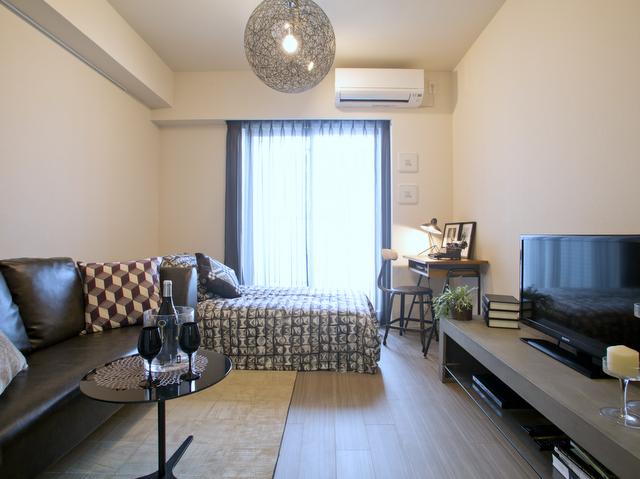 「パークハビオ恵比寿」理想的な家具配置のモデルルーム