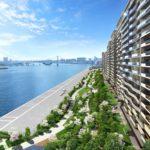 緑道公園と4街区の風景完成予想CG